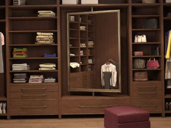 BM Diseño closet tendencia tradicional 02