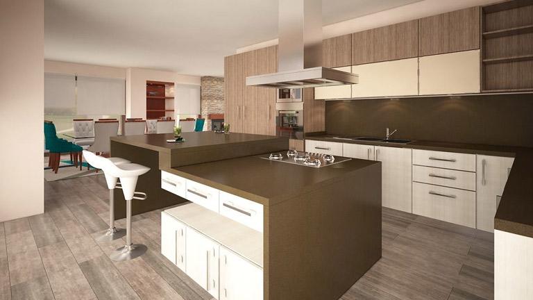 BM Diseño cocina tendencia moderna avellano 8